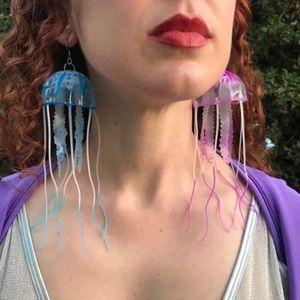 Jewelry - Jellyfish earrings rave festival jewelry edc ocean